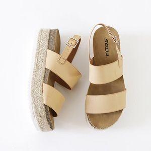 f21153fb592 kazoo nude flatform sling back sandal